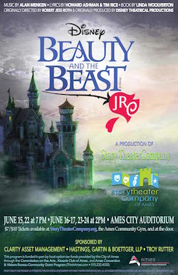 Beauty and the Beast, Jr poster