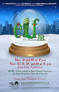 Elf The Musical, JR poster